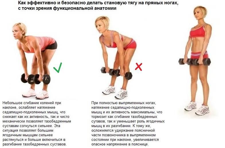 Мертвая тяга - правильная техника, отличия от румынской
