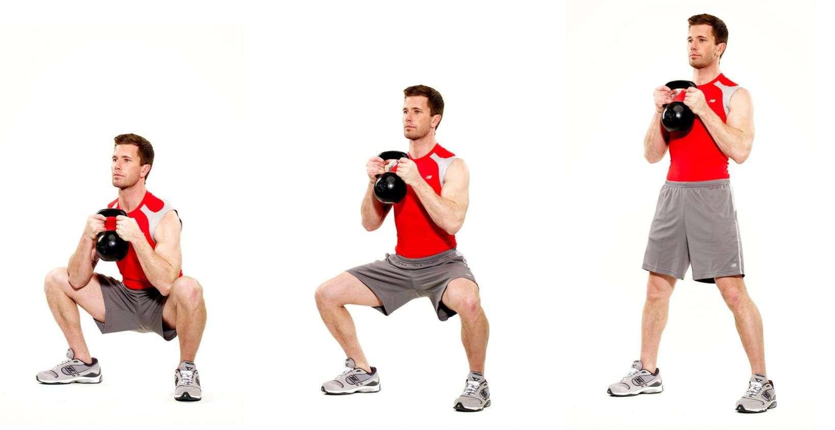 Подъем взятие гири на грудь. лучшее упражнение с гирей часть 2