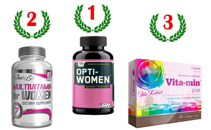 Спортивные витамины для женщин: рейтинг