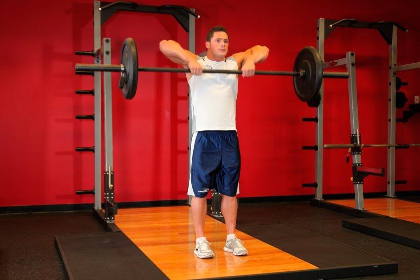 Тяга штанги к подбородку (протяжка) — sportfito — сайт о спорте и здоровом образе жизни