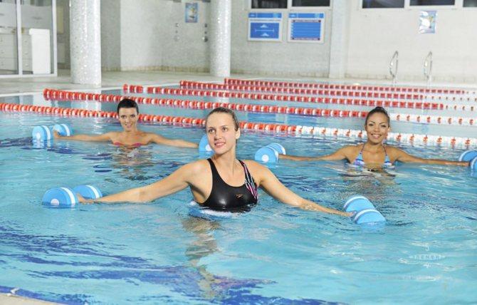Аквааэробика - водные упражнения для похудения