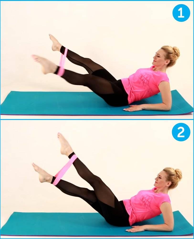 Упражнения с фитнес резинкой дома для похудения: комплексы для рук, для пресса, для ягодиц