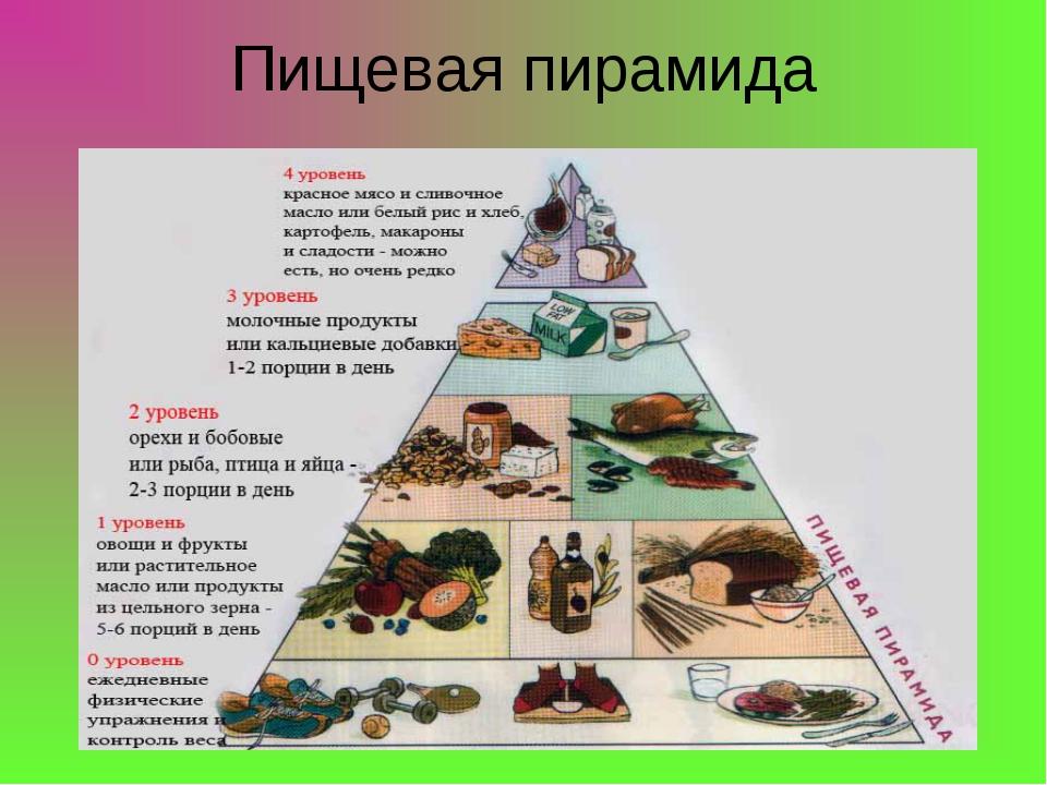 Пирамида питания - как правильно питаться с пользой для здоровья