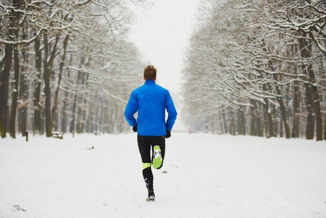 Бег зимой на улице. польза и вред
