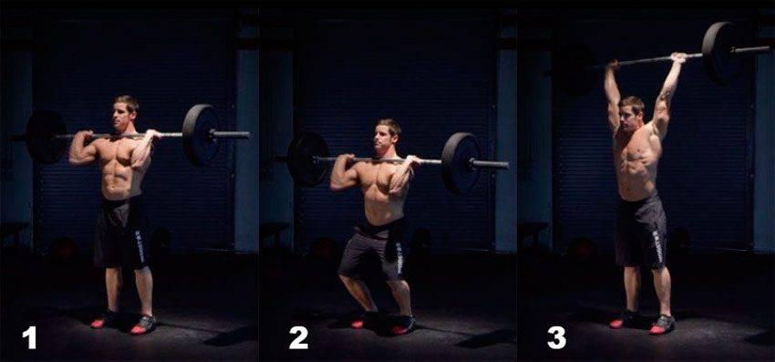 Жимовой швунг: видео и фото упражнения