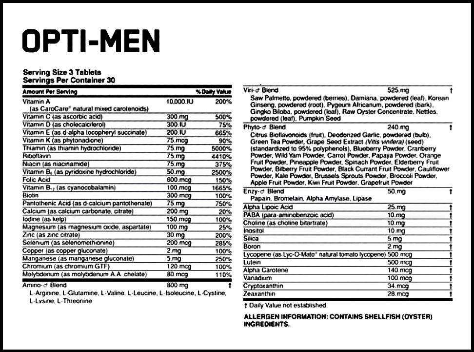 Opti-men от optimum nutrition