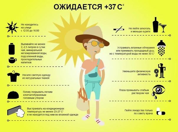Как нужно вести себя в жаркие дни