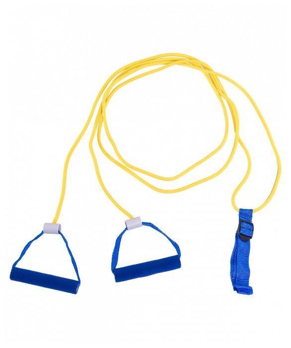 Комплекс упражнений с эспандером лыжника— резиновый шнур с ручками на обоих концах | sport & dom