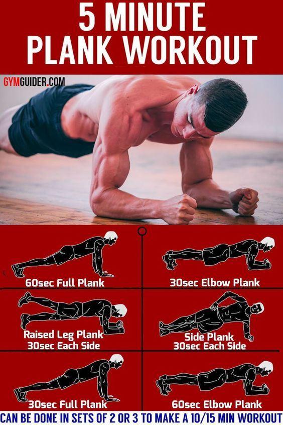 Упражнение планка на 30 дней - 5-минутный комплекс с максимальным эффектом