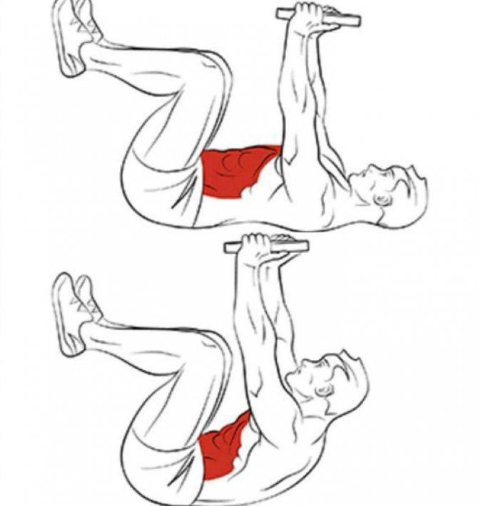 Усложняем упражнения на пресс гантелями