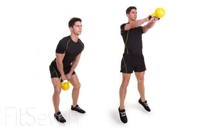 Упражнения на бицепс с гирей