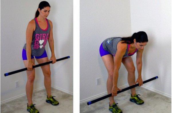 Упражнения с бодибаром для женщин для ягодиц и бедер, позвоночника, рук, спины. видео, фото, картинки, как выполнять