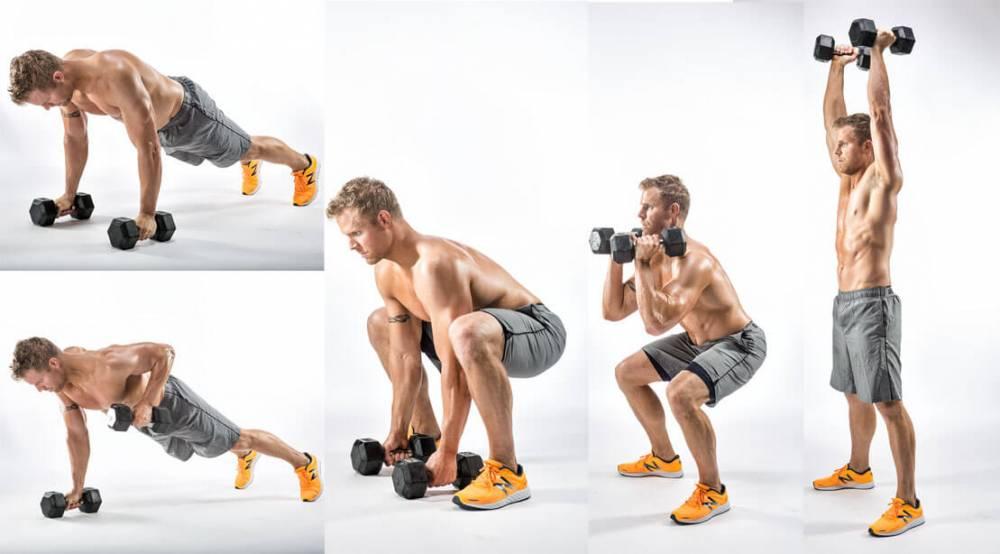 Комплекс упражнения с гантелями в домашних условиях для мужчин: программа тренировки с гантелями дома на 3 раза в неделю для набора массы и похудения
