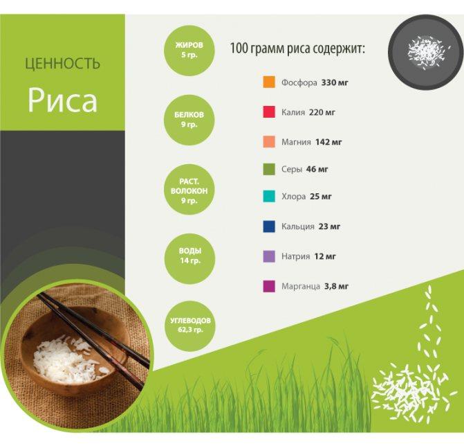 Пропаренный рис: состав, польза и вред для организма человека