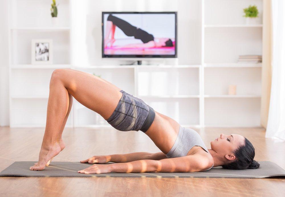 Фитнес в домашних условиях – лучшие упражнения   proka4aem.ru