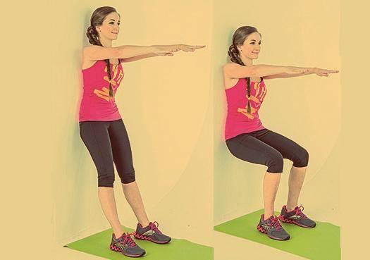 Упражнение «стульчик» у стены: как правильно делать?