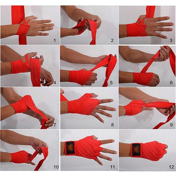 Как правильно наматывать боксерские бинты?