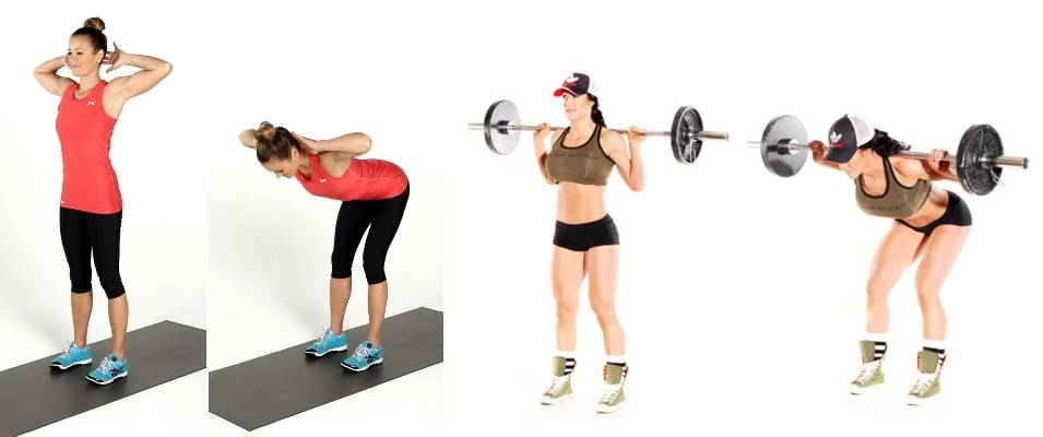 Упражнение «good morning» — простое, но эффективное упражнения для бёдер и ягодиц. обсуждение на liveinternet