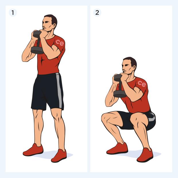 Трастеры с гантелями: техника выполнения упражнения