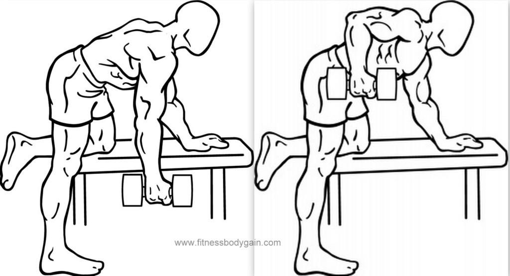 Как правильно выполнять разгибания рук с гантелью в наклоне?