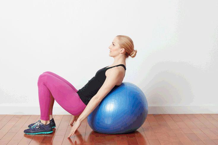Упражнения с фитболом для пресса, ягодиц, бедер. как накачать мышцы и похудеть