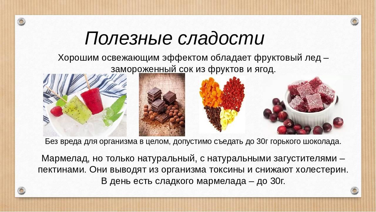 Полезные сладости - какие продукты входят в эту категорию