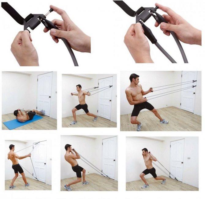 Упражнения с резинками для позвоночника