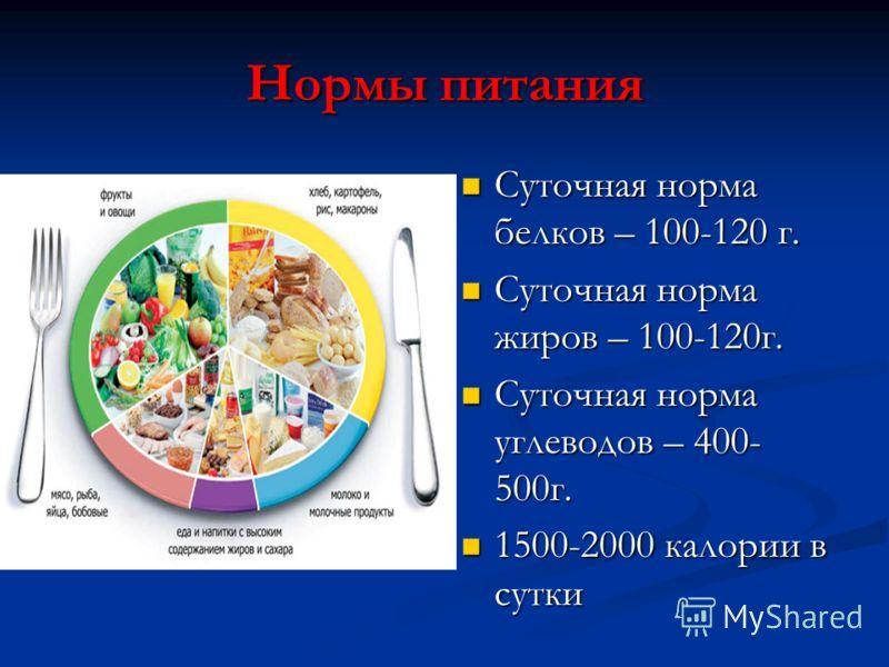 Суточные нормы белков, жиров и углеводов — бжу по возрасту и весу