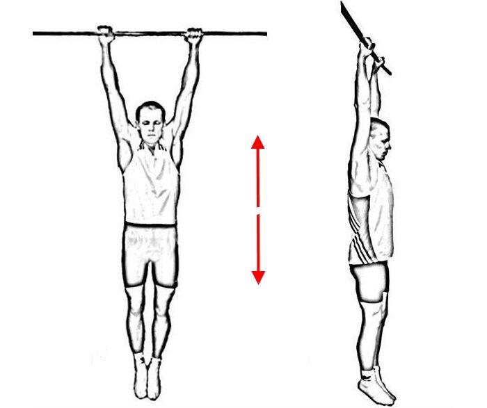 Упражнения для спины на турнике: вис и растяжка, польза и вред подтягиваний, тренировка спины и поясницы, как правильно висеть