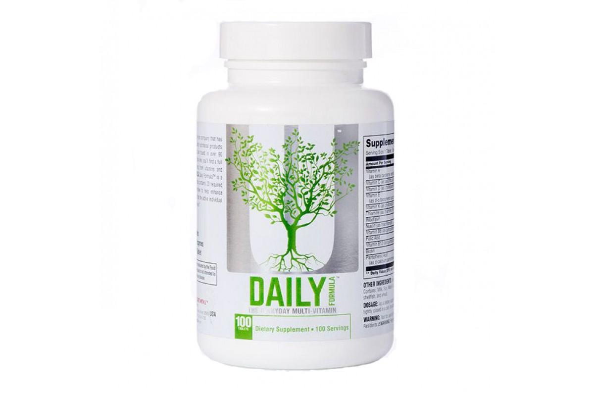 Витаминно минеральный комплекс universal daily formula. дейли формула — описание и инструкция по применению. из чего состоит витаминный коктейль daily formula