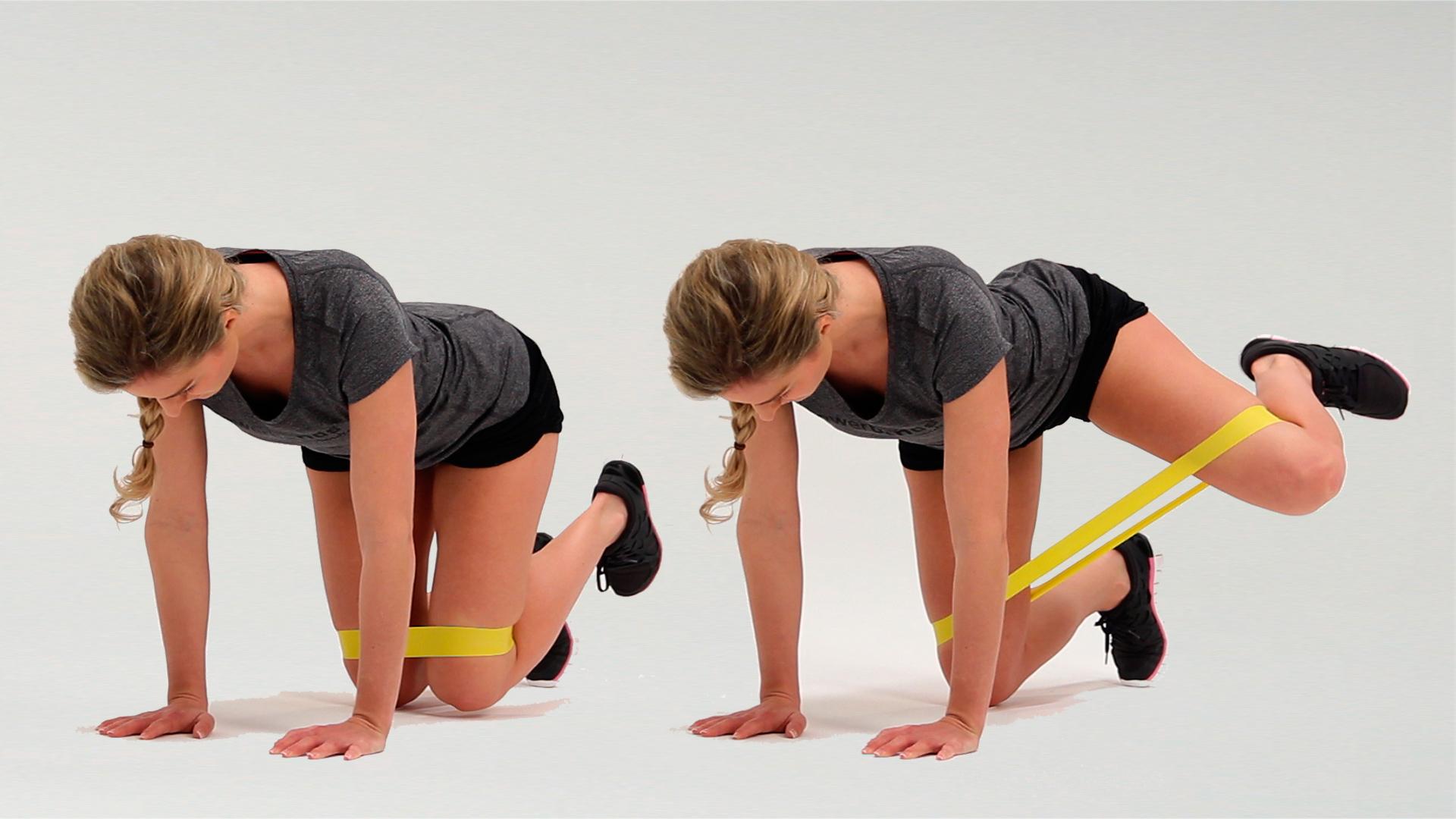 Комплекс упражнений с фитнес резинкой для ягодиц в домашних условиях