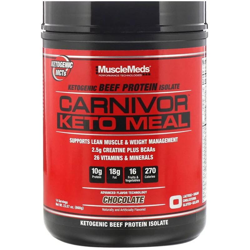 Калорийность протеин carnivor [musclemeds]. химический состав и пищевая ценность