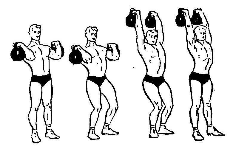 Рывок двух гирь: работающие мышцы и техника выполнения