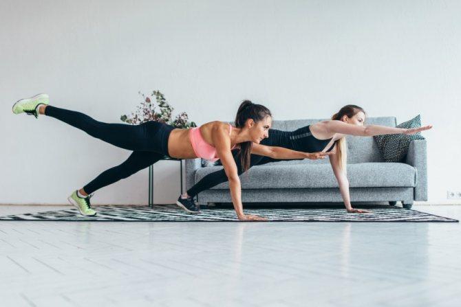 Статические упражнения для похудения и тонуса мышц