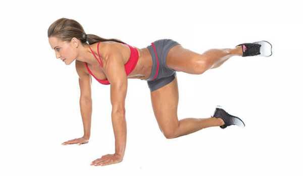 Мах ногой назад мышцы