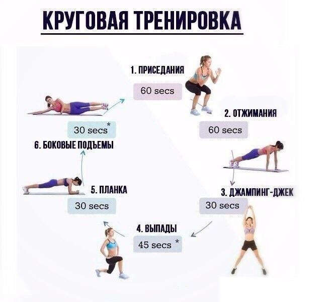 Самые эффективные упражнения для похудения для женщин в домашних условиях и тренажёрном зале