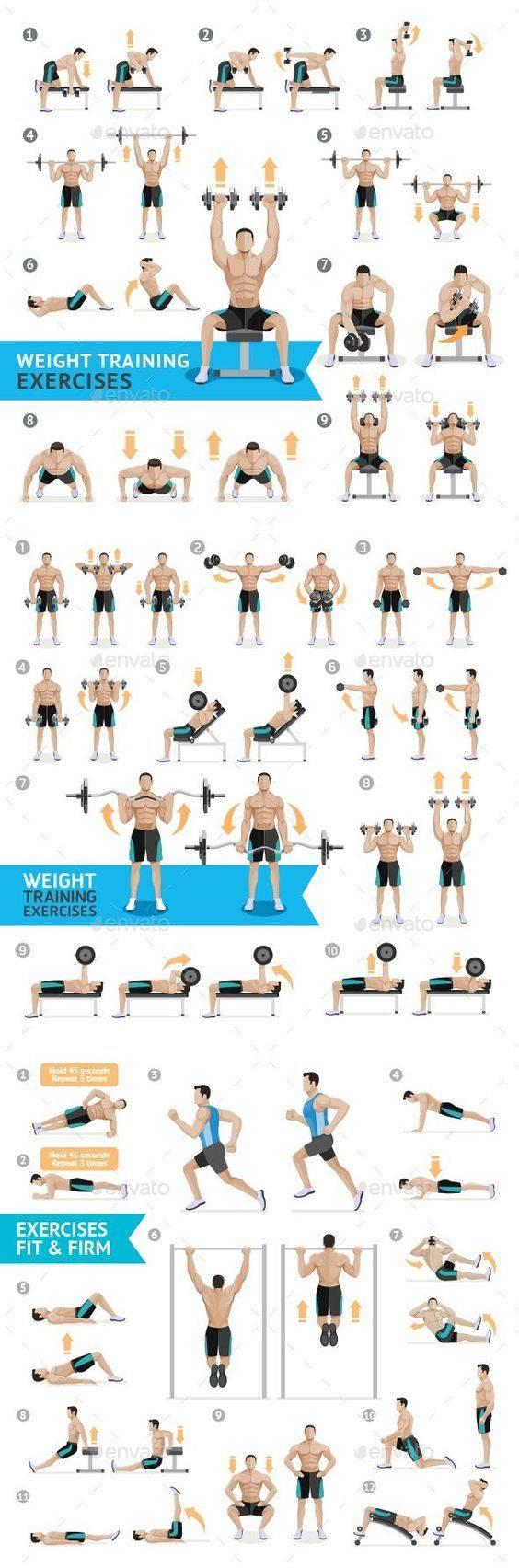 Программа тренировок на всё тело с гантелями
