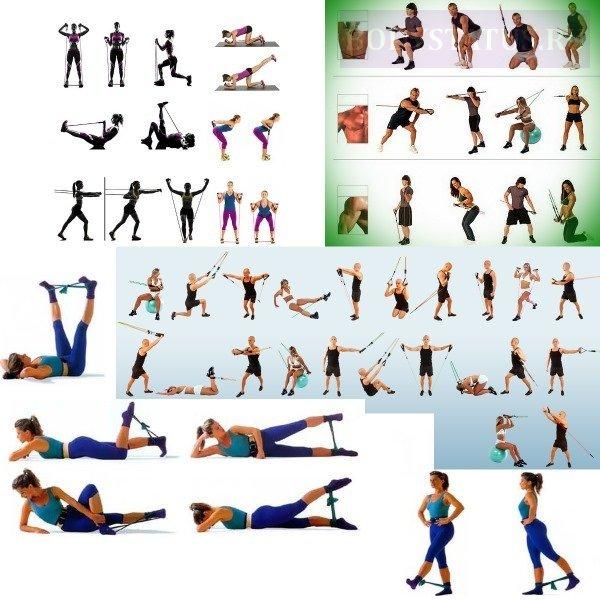 Упражнения для похудения с фитнес-резинкой в домашних условиях