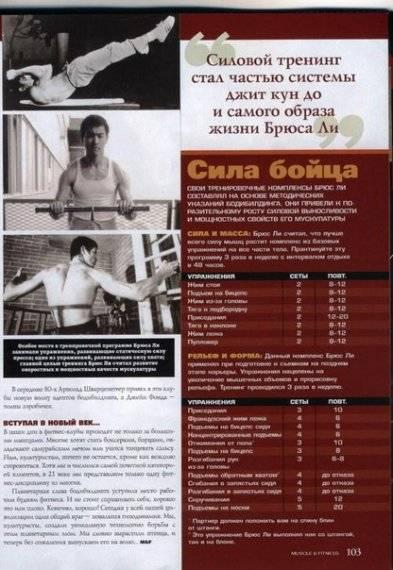 Правила тренировок и питания брюса ли. sportchic.ru
