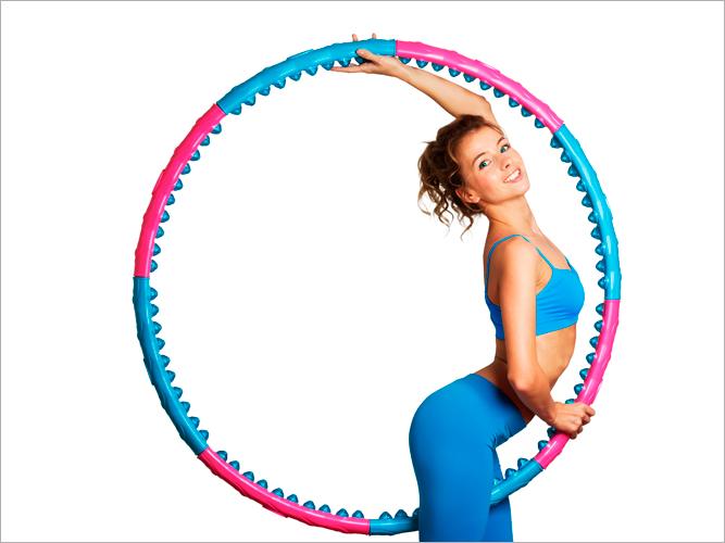 Гимнастика с обручем: упражнения с хулахупом для талии и живота