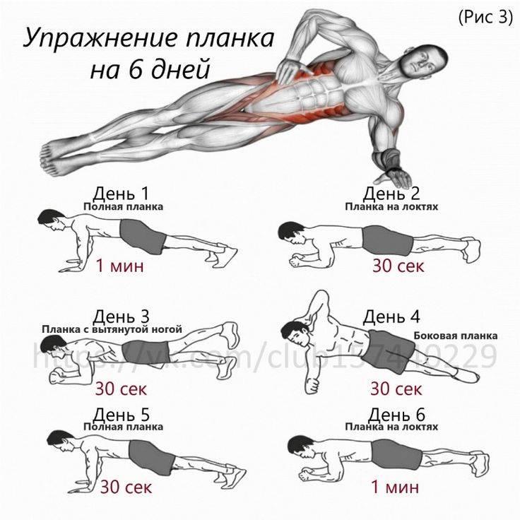 11 уникальных вариантов планки для рельефного пресса и развития мышц кора
