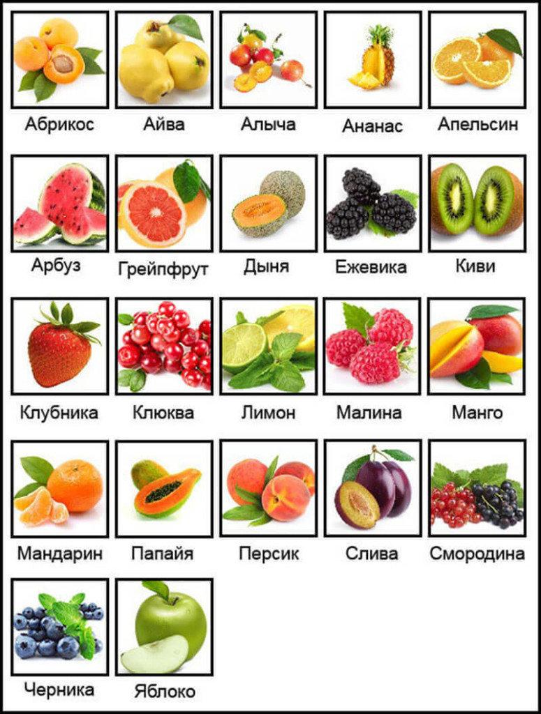 Основной список продуктов с отрицательной калорийностью