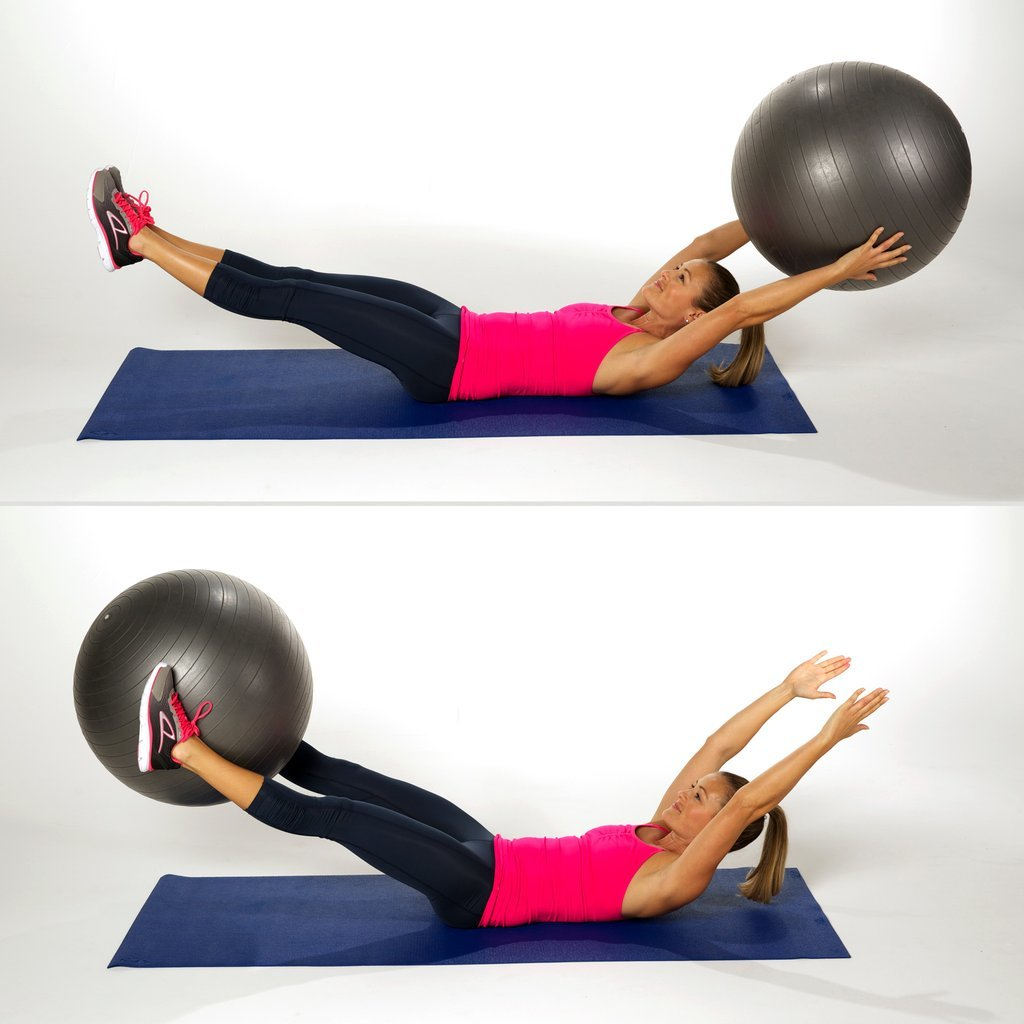 Упражнения для пресса на фитболе - 12 эффективных упражнений | irksportmol.ru