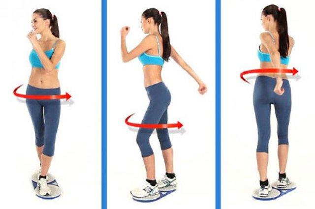 Упражнения на диске здоровья для живота