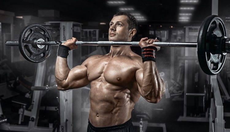 Армейский жим штанги: нормативы, какие мышцы работают