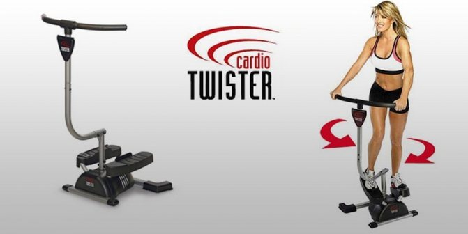 """Поворотный степпер """"кардио твистер"""": какие мышцы работают, его механизм, уровни регулировки нагрузки и явные преимущества над вариантом с эспандерами, какой тренажер лучше выбрать для дома ?"""