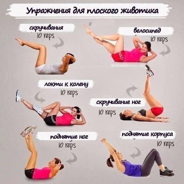 Как сделать плоский живот - 105 фото и видео комплексных упражнений и инструкций как уменьшить живот