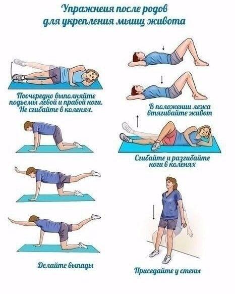 Гимнастика после родов для похудения: 14 упражнений (плюс упражнения кегеля и синди кроуфорд)
