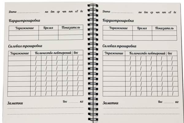Дневник тренировок – шаблон для скачивания и особенности его заполнения