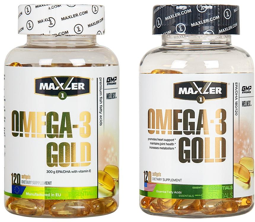 Omega-3 gold 120 капс (maxler) купить в москве по низкой цене – магазин спортивного питания pitprofi